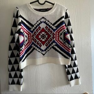 NWOT Mink Pink thick cropped sweater